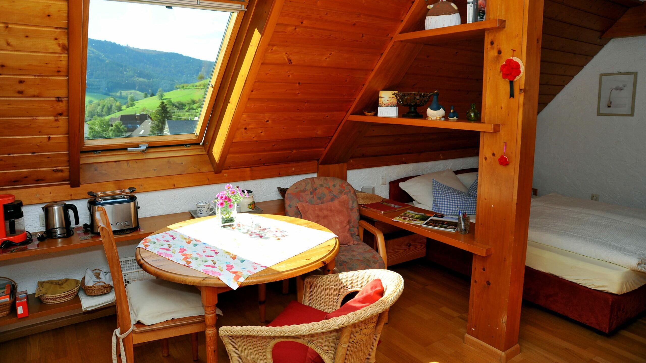 Wohn- Essbereich der Ferienwohnung Dornröschen