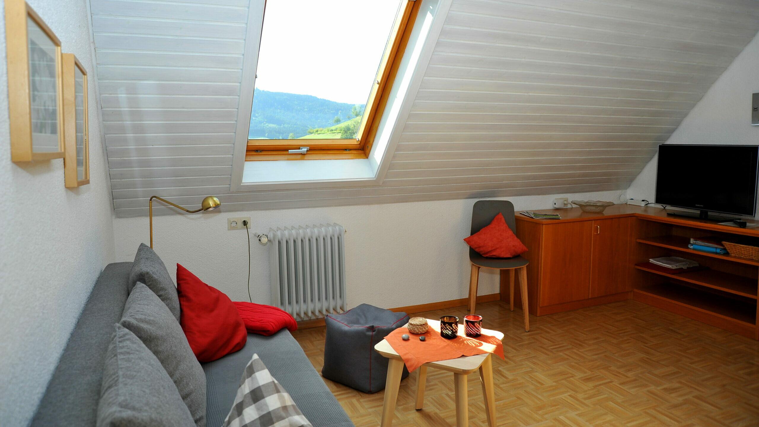 Wohnbereich der Ferienwohnung Gummeneck